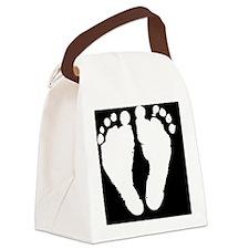 BabyFeet_LargeButton Canvas Lunch Bag