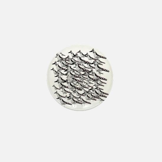 Flock of Woodpeckers Mini Button