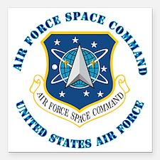"Air-Force-Space-Cmdwtxt Square Car Magnet 3"" x 3"""