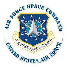 Air-Force-Space-Cmdwtxt Round Car Magnet