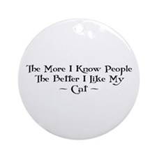 Like Cat Ornament (Round)
