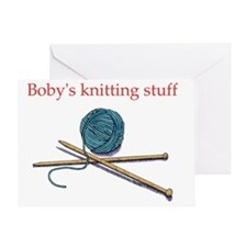 bobys-knitting Greeting Card