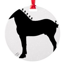 Icepick_lineart_silhouette_signed Ornament