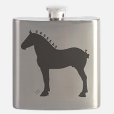 Icepick_lineart_silhouette_signed Flask