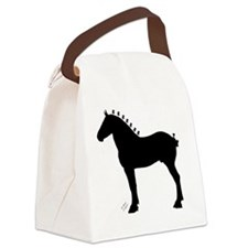 Icepick_lineart_silhouette_signed Canvas Lunch Bag