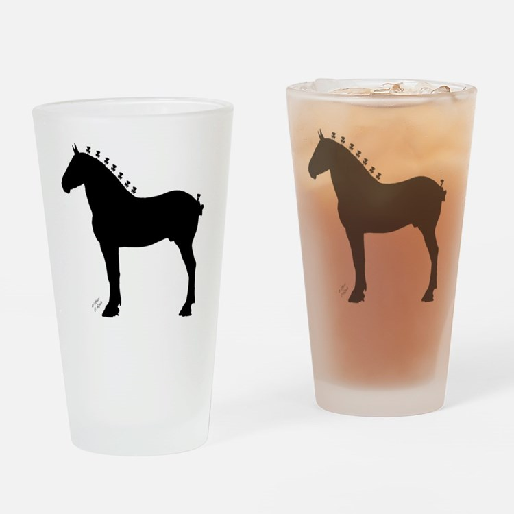 Icepick_lineart_silhouette_signed Drinking Glass