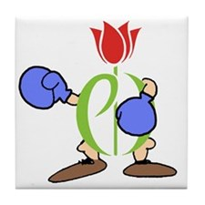 tee-knockout Tile Coaster