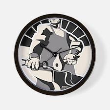 Black_smith_giant-grey Wall Clock