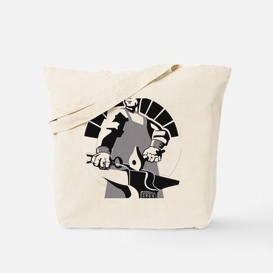 Black_smith_giant-grey Tote Bag