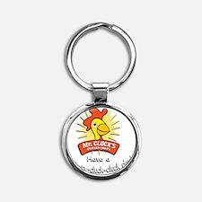 Mr Cluck1 Round Keychain