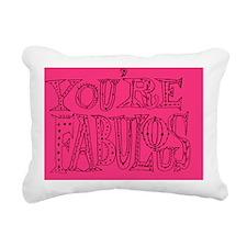 Ur Fab pink Rectangular Canvas Pillow