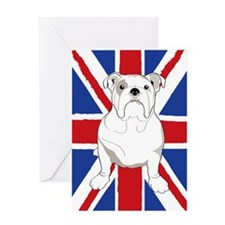 Bulldog English Flag Greeting Card