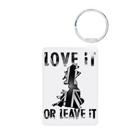 LOVE IT OR LEAVE IT BNW CO Aluminum Photo Keychain
