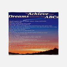 reviiiiised ABCs mousepad bottom cro Throw Blanket