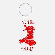 WALES CYMRU MAP SHADOWED Keychains