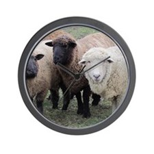 3 Sheep at Wachusett Wall Clock