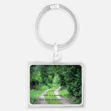 Faith is a Journey Landscape Keychain