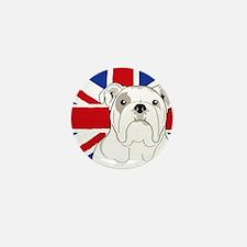 Bulldog Square English Flag Mini Button