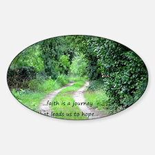 Faith is a Journey Sticker (Oval)