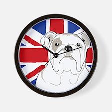 Bulldog Square English Flag Wall Clock