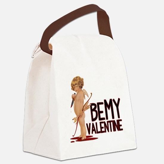 BEMYVALENTINE Canvas Lunch Bag