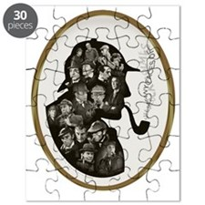 Manyfaces T  framed for black copy copy Puzzle
