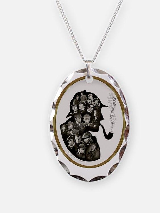 Manyfaces T  framed for black  Necklace