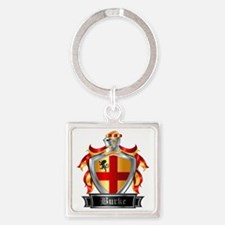 BURKE COAT OF ARMS Square Keychain