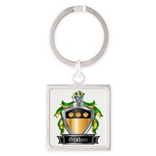 GRAHAM COAT OF ARMS Square Keychain