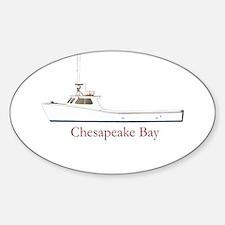 Chesapeake Bay Workboat Oval Decal