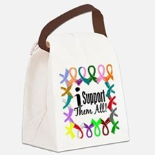 D All Ribbons 3 Canvas Lunch Bag