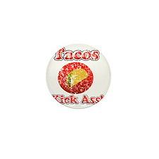 Vintage Tacos Kick Ass Mini Button