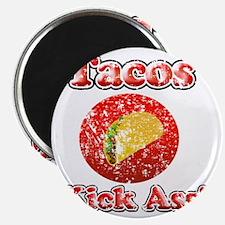 Vintage Tacos Kick Ass Magnet