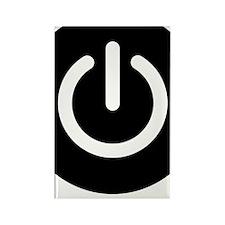 TurnMeOn_Blk Rectangle Magnet
