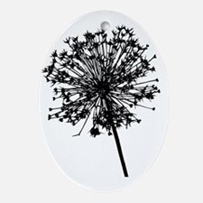 Black MAW Trans Oval Ornament
