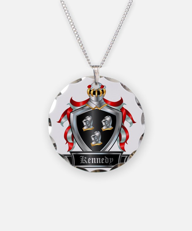 KENNEDY COAT OF ARMS Necklace Circle Charm