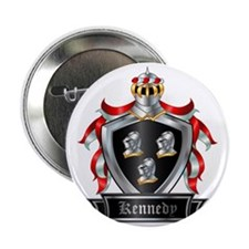 "KENNEDY COAT OF ARMS 2.25"" Button"