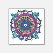 "Medallion-Teal and Raspberr Square Sticker 3"" x 3"""