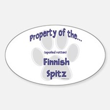 Finnish Spitz Property Oval Decal