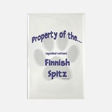 Finnish Spitz Property Rectangle Magnet
