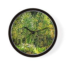 Van Gogh - The Grove, landscape paintin Wall Clock