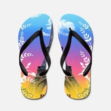 eiffel-tower-paris-france Flip Flops