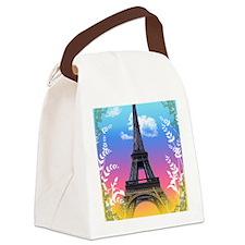 eiffel-tower-paris-france Canvas Lunch Bag