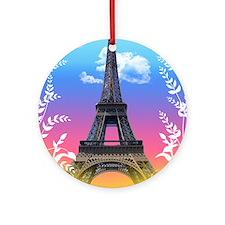 eiffel-tower-paris-france Round Ornament