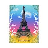 Paris eiffel tower Duvet Covers