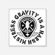 "Rattleship Gravity Square Sticker 3"" x 3"""