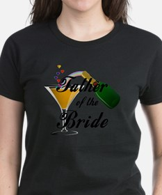 father of bride black Tee
