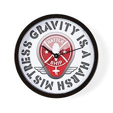 Rattleship Gravity Red Wall Clock