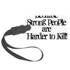 HARDER TO KILL White Luggage Tag