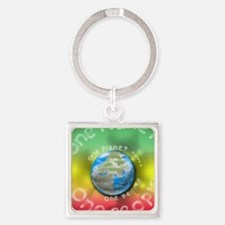 peaceful  planet Square Keychain